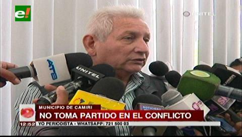 Rubén Costas no toma partido en el conflicto de Camiri