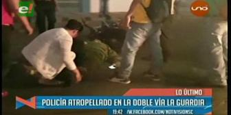 Choque entre una moto y un vehículo deja un policía herido