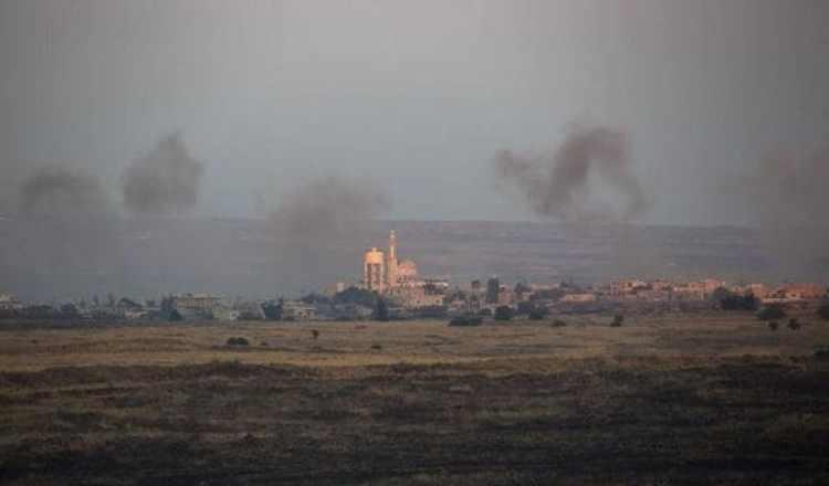 Imagen del pueblo sirio de Hamideah, cerca de los Altos del Golán (EFE)