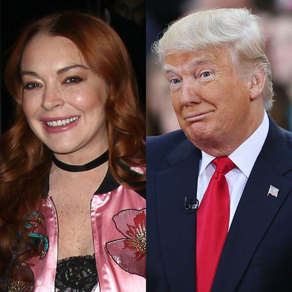 Lindsay Lohan defiende a Donald Trump con estos mensajes en Twitter