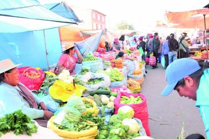 Los precios de los alimentos fueron evaluados en ferias y mercados.