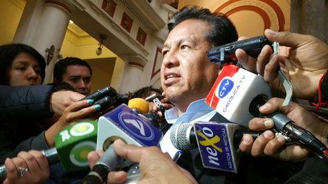 El ministro de la Presidencia, René Martínez, en declaraciones a la prensa.