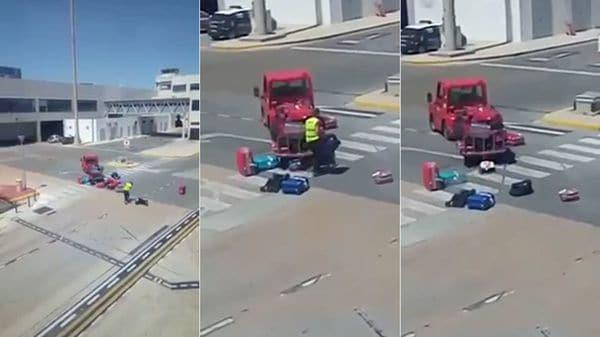 Trabajador de Iberia es grabado golpeando maletas de clientes — YouTube