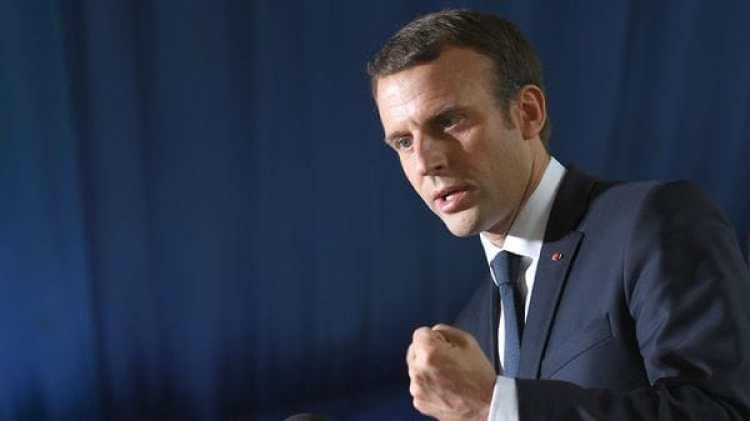 El mandatario francés destacó el aporte de las tropas de su país (AFP)