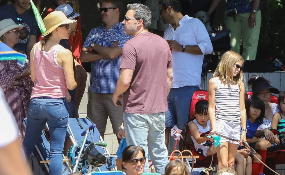 Ben Affleck, junto a Jennifer Garner y sus hijos, el pasado 4 de julio.