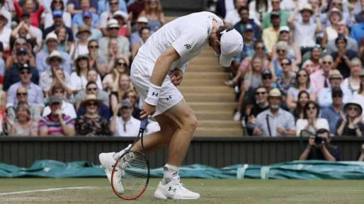 Andy Murray, vigente campeón en Wimbledon, quedó eliminado en los cuartos de final (AP)