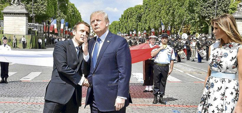 El inédito espectáculo que despidió a Trump de París