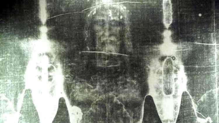 El supuesto rostro de Jesús en el Santo Sudario de Turín (Archivo)