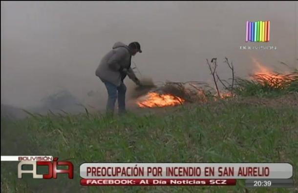 Preocupación por incendio en San Aurelio