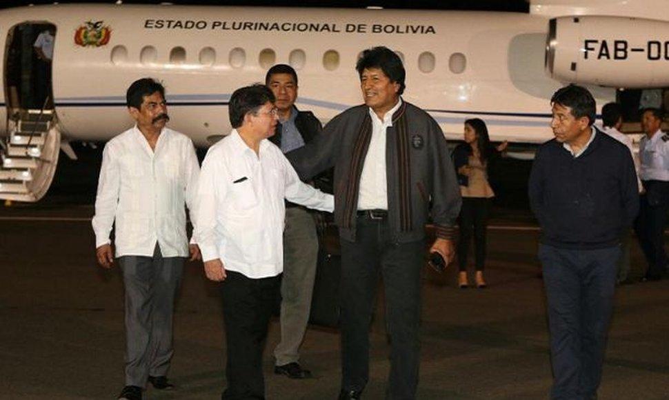 Morales arribó a Nicaragua cerca de la medianoche de este martes.