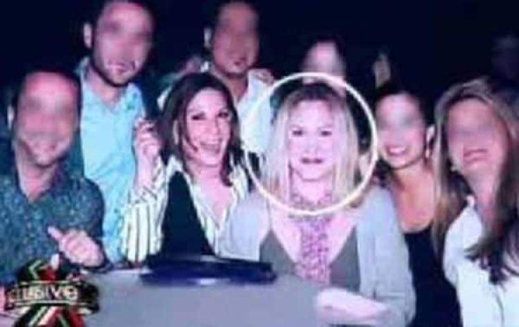 En esta foto, en una fiesta junto a Marlene Key