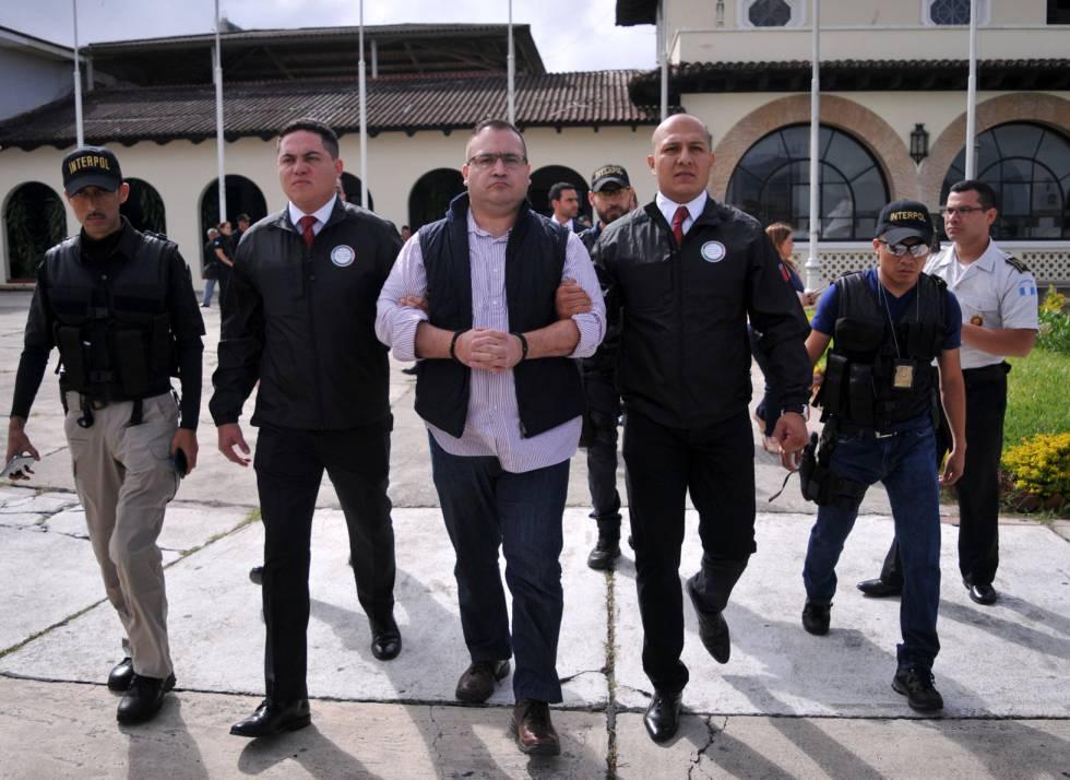 Javier Duarte, antes de su extradición a México.