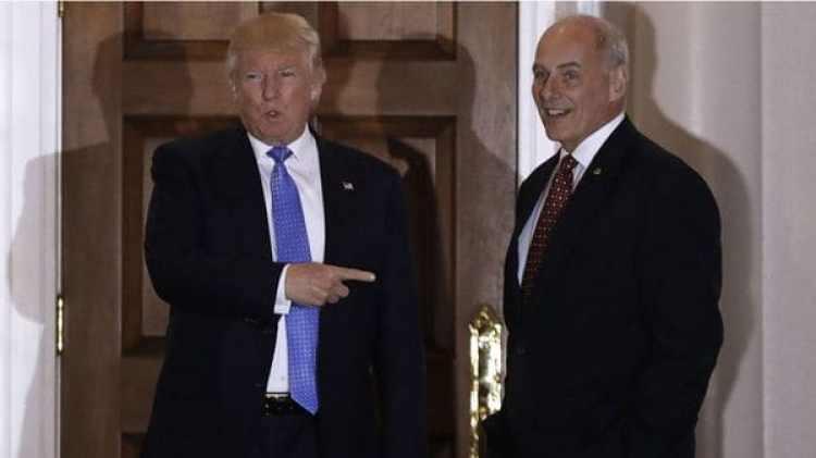 Donald Trump y John F. Kelly