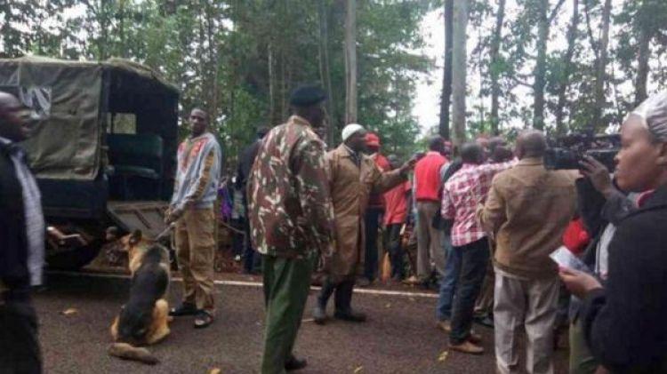 Un importante número de fuerzas de seguridad fueron desplegadas