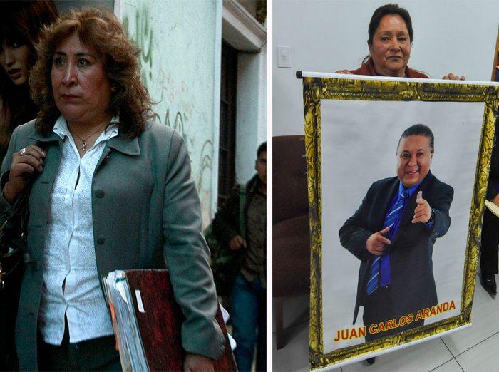 LA FISCAL CUESTIONADA, SUSANA BOYáN, FUE RETIRADA DEL CASO ARANDA, INFORMARON LOS FAMILIARES. LA HERMANA, ROXANA ARANDA, SOSTIENE UNA FOTOGRAFÍA DEL EXCONSTITUYENTE Y CANTANTE.