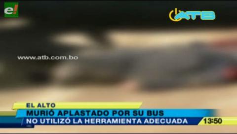 Murió aplastado mientras arreglaba un autobús