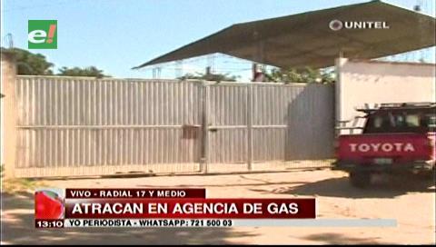 Sujetos armados atracan una agencia de gas