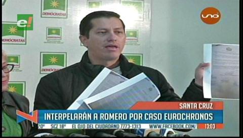 Interpelerán al ministro Romero por el caso Eurochronos