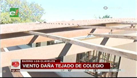 Suspenden las clases en un colegio debido a que el viento se llevó el techo