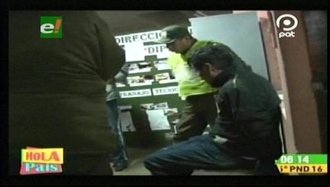 La Paz: Detienen a sujeto acusado de robar repuestos de un vehículo
