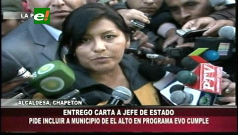 "Chapetón pide a Morales no excluir a El Alto del ""Evo Cumple"""