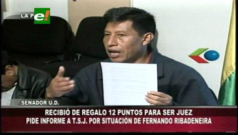 """Senador denuncia que Escuela de Jueces """"regala"""" puntos para aprobar a aspirantes a jueces"""