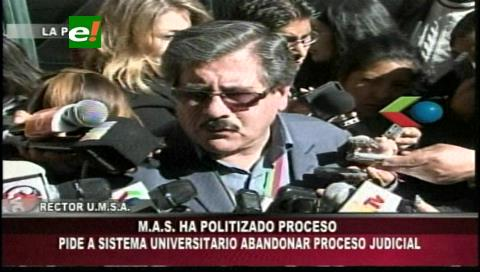 UMSA prevé fracaso judicial por aspirantes sin credibilidad