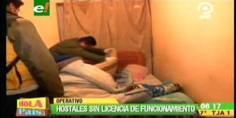 La Paz: Operativo identifica hostales que funcionan ilegalmente