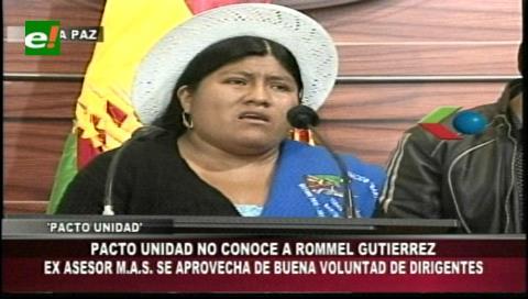 Pacto de Unidad niega vínculos con Romer Gutiérrez