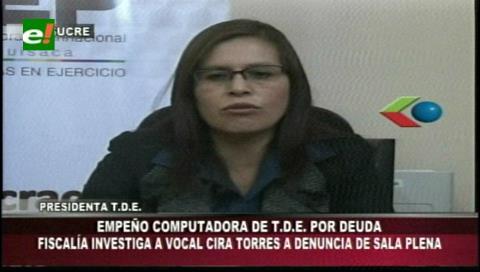 Chuquisaca: Denuncian que una vocal del TED empeñó un bien institucional