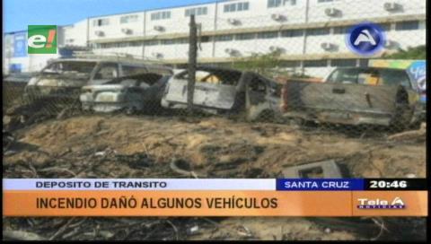 Vehículos retenidos por hechos de tránsito se incendiaron
