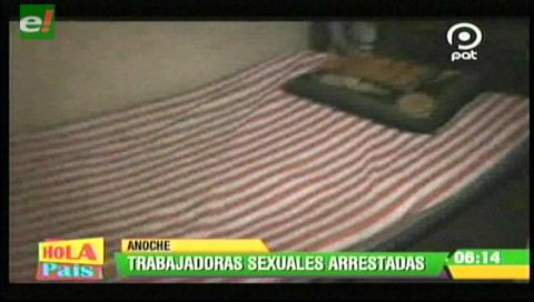 Arrestan a 20 trabajadoras sexuales tras un operativo en La Paz