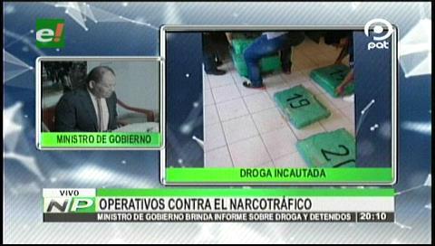 Fuerza antidroga secuestra 600 kilos de marihuana y 2.858 gramos de cocaína en Santa Cruz
