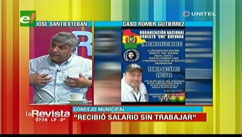 Santisteban: Gutiérrez recibió un salario del Concejo sin trabajar