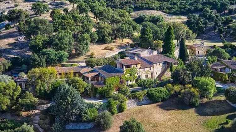 El château de la estrella de Hollywood cerca de Saint-Tropez, en Francia.