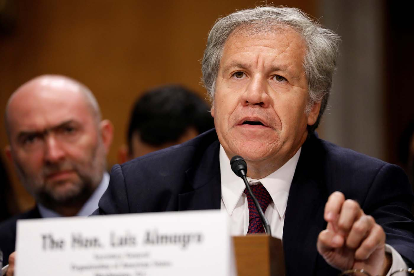 Organization of American States President Luis Almagro testifies before a Senate Foreign Relations Subcommittee on the ongoing crisis in Venezuela on Capitol Hill in Washington, U.S., July 19, 2017. REUTERS/Aaron P. Bernstein