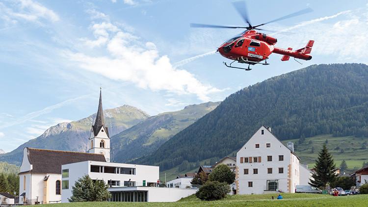 Un helicóptero de rescate se estrella contra la montaña más alta de Austria (VIDEO)