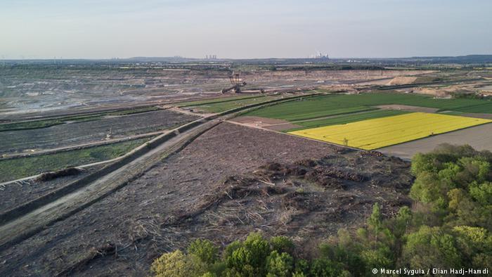 Vista de Elsdorf, cerca de la mina de Hambach.