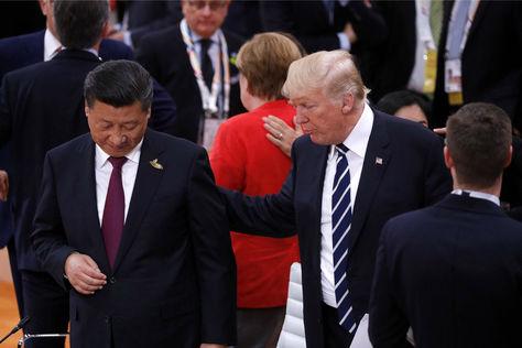 El líder chino Xi Jinping y Donald Trump durante un encuentro anterior. Foto: Archivo