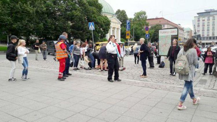 El ataque con cuchillo se produjo en la ciudad de Turku (@ylenews)