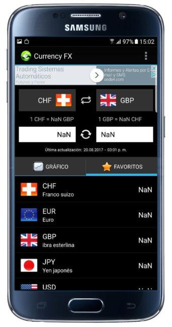 Operación con Currency FX