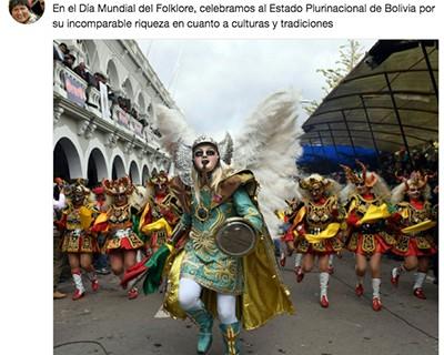 Morales-destaca--incomparable-riqueza--cultural-de-Bolivia-en-el-Dia-Mundial-del-Folklore