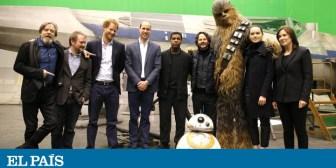Guillermo y Enrique de Inglaterra hacen un cameo en 'Star Wars'