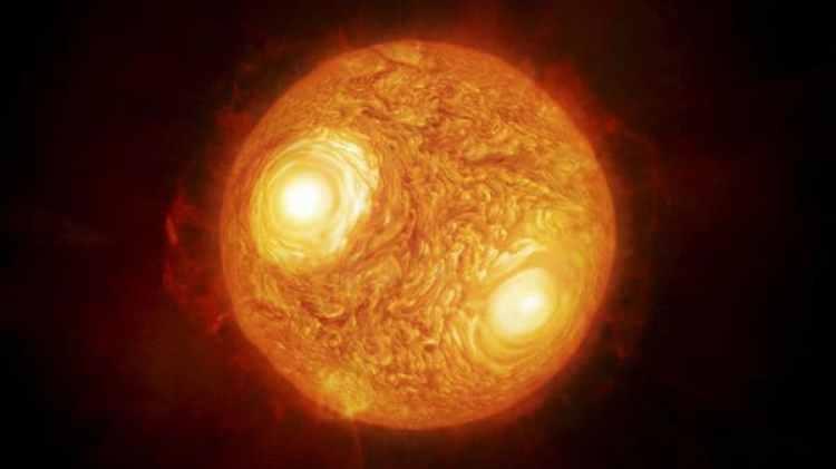 La estrella supergigante roja Antares, la más brillante de la constelación de Escorpio, que está camino de convertirse en una supernova y se encuentra a unos 600 años luz de la Tierra (EFE)
