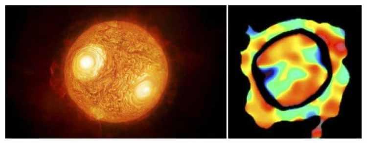 Los astrónomos detectaron gas turbulento y de baja densidad mucho más alejado de la estrella de lo que esperaban encontrar según las teorías vigentes (EFE)