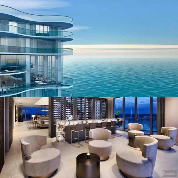El triplex a la venta se convirtió en la propiedad más costosa de Sunny Isles y la segunda a la venta más cara de Miami, sólo superada por el penthouse de USD 73 millones del Faena House