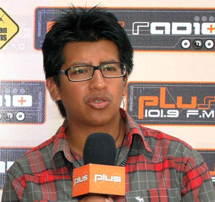 Cristian Mariscal, durante su trabajo en Plus TV