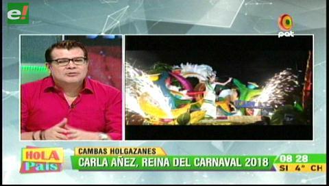 Carla Áñez Safar es la reina del Carnaval de Santa Cruz