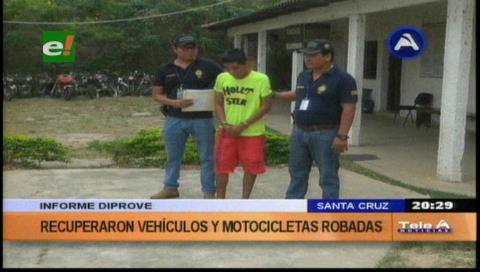 Informe de Diprove: Recuperaron vehículos y motocicletas robadas