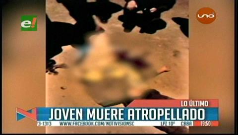Joven muere atropellado en la avenida Paurito